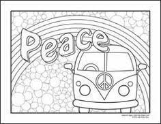 Groovy Book Coloring Sheets