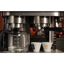 Krups XP604050 Combi Espresso Machine And 10 Cup Coffee Maker Carafe Cups