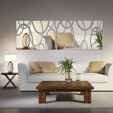 Acrylic Mirror Wall Decor Art 3D DIY Stickers Living Room Dining Bedroom