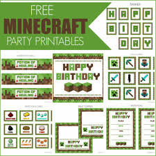 Minecraft Pumpkin Pie Banner by Free Minecraft Printables For Parties And Play U2013 Coloradomoms Com
