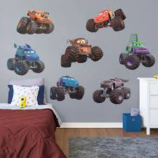 100 Monster Truck Wall Decals Cars S Collection XLarge Officially Licensed Disney