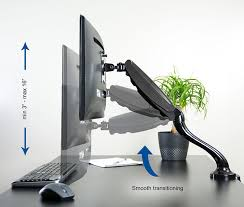 Desk Mount Monitor Arm Singapore by Amazon Com Vivo Single Lcd Monitor Desktop Mount Stand Black