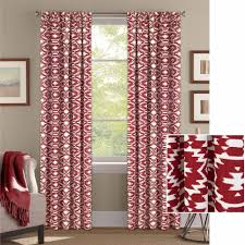 Walmart Better Homes And Gardens Sheer Curtains by Better Homes And Gardens Red Southwest Curtain Walmart Com