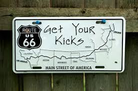 Get Your Kicks On Route 66 License Plate Classic Car Truck Chicago ...