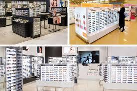 Discover Cool Eyewear Store Eyeglass Shop Floor Standing Locking Sunglasses Wood Vendor Display Rack Stand