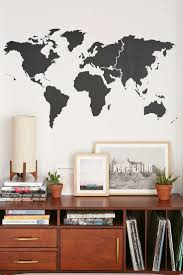 Walls Need Love World Map Wall Decal Urban Outfitters Fashion Stickers Cat Living Room Decor