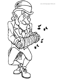 Leprechaun Making Music St Patricks Day Color Page Holiday Coloring Pages Plate More Free Printable