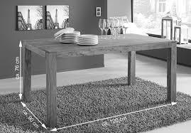 esstisch massivholz 120 x 90 cm holztisch akazie timber 6703