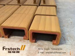 Wood Bench Designs Decks by Waterproof Wpc Outdoor Bench Simple Wooden Bench Design Wood
