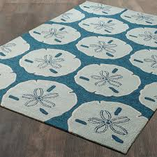 Nautical Sand Dollar Indoor Outdoor Rug Shades of Light