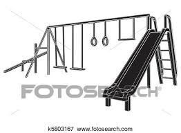 Clip Art Of Children Playground K5803167