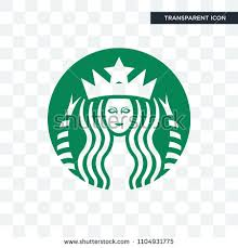 Starbucks Vector Icon Isolated On Transparent Background Logo Concept