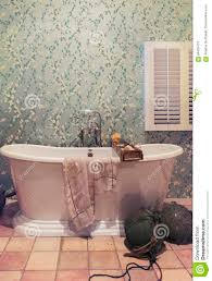klassisches badezimmer im landhausstil stockfoto bild