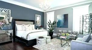 Navy Accent Wall Dining Room Gray Bedroom With Black And Art