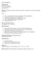 Sample Resume For A Cook Lead