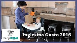 Joovy Nook High Chair Manual by Inglesina Gusto 2016 High Chair Review By Baby Gizmo Youtube