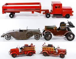Lot 355: Wood And Metal Folk Art Toy Vehicle Assortment; Six ... Kdw Diecast 150 Water Fire Engine Car Truck Toys For Kids Playing With A Tonka 1999 Toy Fire Engine Brigage Truck Ladders Vintage 1972 Tonka Aerial Photo Charlie R Claywell Buy Metal Cstruction At Bebabo European Toys Only 148 Red Sliding Alloy Babeezworld Nylint Collectors Weekly Toy Pinterest Antique Style 15 In Finish Emob Classic Die Cast Pull Back With Tin Isolated On White Stock Image Of Handmade Hand Painted Fire Truck