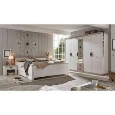 lomadox schlafzimmer set ferna 61 spar set 4 tlg schlafkombination landhausstil in pinie weiß nb mit absetzungen in pinie dunkel nb