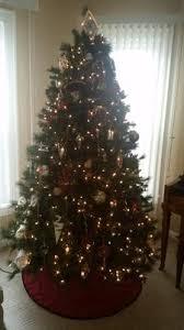 Artificial Christmas Tree Stand Walmart by Holiday Time Pre Lit 7 5 U0027 Prescott Pine Artificial Christmas Tree
