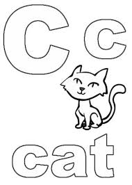 Printable Coloring Pages Alphabet C For Cat And Page