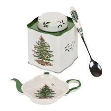 Spode Christmas Tree Mugs With Spoons by Spode Christmas Tree Set Of 2 Peppermint Mugs With Spoons China