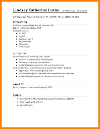 High School Student Job Resume Formatresume Format Template Examples First Best Intended For Curriculum Vitae Highschool Students