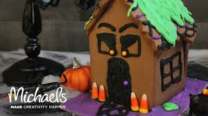 Michaels Cake Decorating Tips by Halloween Gingerbread House Darby Smart Michaels Youtube