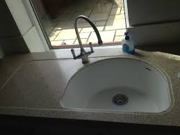 100 Hi Macs Sinks An LG MACS Worksurface In IVORY QUARTZ Complete With A