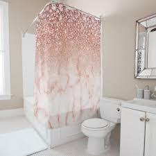 bezauberndes imitat rosa marmor und glitzer duschvorhang