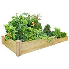 amazon com greenes fence 48 inch x 96 inch cedar raised garden