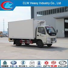 China Foton 4*2 2t Refrigerator Van Truck For Sale - China ...