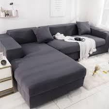 elastische sofa abdeckung für wohnzimmer schnitts sofa schutzhülle sessel möbel abdeckung l form müssen kaufen 2 stück