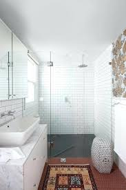 marble subway tile bathroom homefield
