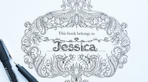 Video Tutorial By Johanna Basford How To Personalize Your Lost Ocean Coloring Book With A