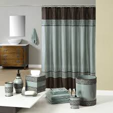 teal and brown bath accessories welcome industrial gala blue bath