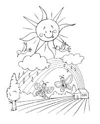 Spring Coloring Sheets Free Printable Pages