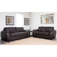 montclair top grain leather sofa and loveseat set sam s club