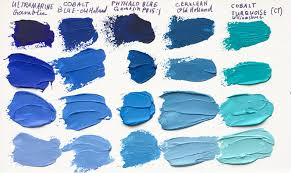 Missing Cyan NbspAbove A Comparison Of Blue Paints To Show The Pigments