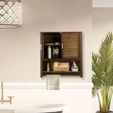 hängeschrank dunkelbraun lamell badschrank mit handtuchhalter wandschrank aus bambus hbt 66 x 62 x 20 cm