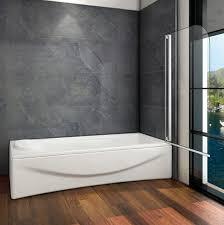 badewannen aufsatz trennwand spritzschutz glaswand 80x140cm