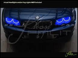 99 06 bmw m3 led dual color halo rings headlights bulbs