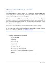 100 Truck Driving Schools In Dallas Tx Appendix D Tolling Study Survey TX Tolling