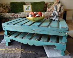 Teal Coffee Table For Home Design Painted Pallet Tables