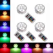 i Zoom Wireless LED Color Changing Push Lights with Remote Control