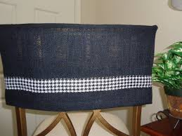 Black Burlap Half Chair Back Cover W/Black & White Houndstooth Trim,  Kitchen Chair Cover, Chair Caps, Dorm Chair, Man Cave, Breakfast Bar Quick Chair Cover Family Chic By Camilla Fabbri 092018 Gray Burlap Half Wgray White Chevron Ribbon Trim Dorm Kitchen Ding Slipcovers Bar Stool Back Covers Fniture Chaing The Look Of Your Room In Minutes With Charcoal Tan Man Cave Or Office Stools Desk Spectacular T Cushion Spandex Black Ivory Folding Arched Wedding Reception Slipper Diy Ba Barn Barrel One Bath A Made Midwest Footprints Products For Absolutely Fabulous Events And Productions Sashes Sj Enterprises