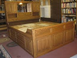 Aerobed Queen Raised Bed With Headboard by Cal King Captains Bed Rustic California King Bed Frame With