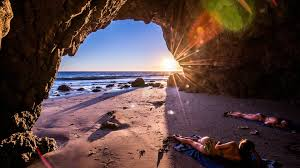 1920x1080 Beaches Malibu California Nature Sea Usa Sunset Cave Beach