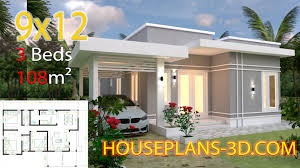 100 Housedesign House Design Plans 9x12 With 3 Bedrooms Terrace Roof