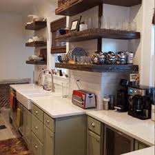 Rustic Floating Shelves With Reclaimed Wood And Metal Strapping