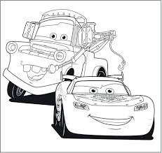 Coloring Page Cars Disney Free Pages Carnival Rides Cartoons Wonderful Car Large Size